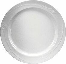 Oneida Küchenservice Porzellan cremeweiß Teller,