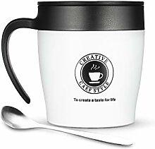 ONEISALL Kaffeebecher, 320 ml, Edelstahl,