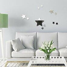 OneMtoss Spiegel deko Wandspiegel Sternen 25cm dekoration wohnung Wandaufkleber