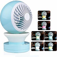 Onerbuy Mini USB Tisch Schreibtisch Personal Fan Portable Cool Mist Air Conditional Fan Luftbefeuchter Aroma Diffusor mit RGB LED Nachtlich
