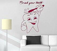 ONETOTOP Dental wandaufkleber putzen sie ihre