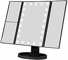ONEVER LED Schminkspiegel - 22 LEDs 3 faltender
