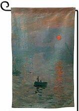ONGH Eindruck Sunrise 12,5 x 18 Zoll Garten Flagge