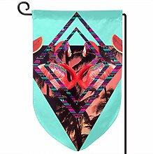 ONGH Flamingo 12,5 x 18 Zoll Garten Flagge