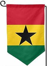 ONGH Ghana Flagge 12,5 x 18 Zoll Garten Flagge