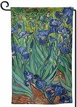 ONGH Iris 1889 12,5 x 18 Zoll Garten Flagge
