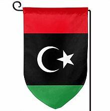 ONGH Libyen 12,5 x 18 Zoll Garten Flagge