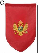 ONGH Montenegro Flagge 12,5 x 18 Zoll Garten