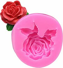 ONIKOOLA 3D-Rosen-Blume Silikon Kuchenform