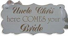 Onkel Hier Kommt Diene Braut, Hochzeits-Schild,