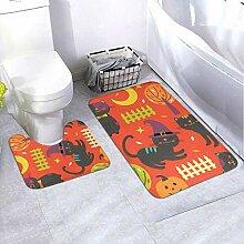 Onled Badezimmerteppich-Set, bunt, Herbstmuster