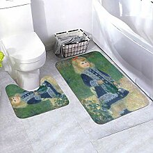 Onled Badezimmerteppich-Set mit Gießkanne,