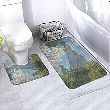 Onled Badezimmerteppich-Set mit Sonnenschirm und