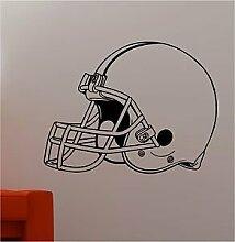 Online Design American Football Helm Wanddekor Aufkleber Vinyl Kinder-Schlafzimmer Sport - Burgunder