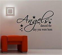 Online Design Angels Danced Art Wand Aufkleber Vinyl Schlafzimmer Kinder Baby Silber