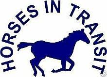 Online Design Aufkleber für Pferdeboxen Horses in Transit - Rosa