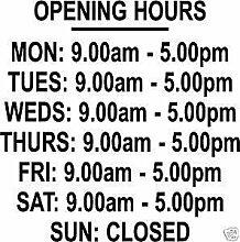 Online Design Custom Shop ouverture heures/fois Panneau en