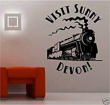 Online Design Dampfzug Urlaub Wanddekor Aufkleber