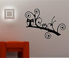 Online Design Eulen auf einem Ast Lounge Kinder Art Wand Aufkleber Vinyl Schlafzimmer Zitat gold
