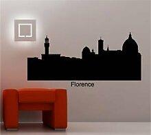 Online Design Florence Italien Stadtlandschaft Wanddekor Aufkleber Vinyl Skyline - Ro