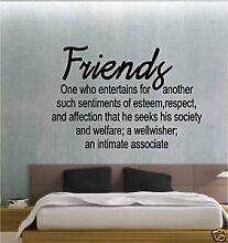 Online Design Freunde Definition Schlafzimmer Badezimmer Aufkleber Wandkunst - Grün