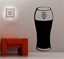 Online Design Huge Pint Glas Bier Art Wand Aufkleber Vinyl Bar Küche orange