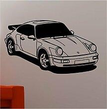 Online Design Huge Sport Racing Auto Wand Kunst Aufkleber Vinyl Kinder Schlafzimmer türkis