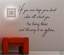 Online Design If Kipling Gedicht Vinyl Wandkunst