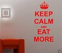 Online Design Keep Calm And Essen Auf Spruch Wandkunst Aufkleber Küche - Rosa