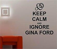 Online Design Keep Calm and Gina Ford Art Wand Aufkleber Aufkleber Schlafzimmer Lounge Küche Kinderzimmer türkis