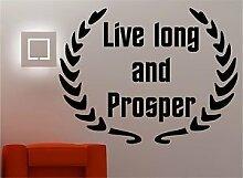 Online Design Leben Lang Und Prosper Wanddekor Aufkleber Vinyl Spruch Schlafzimmer Lounge Küche - Ro