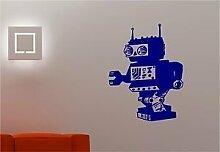 Online Design Retro Roboter Space Wall Art Aufkleber Aufkleber Kids Kinder Schlafzimmer ro