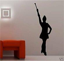 Online Design Riesig Baton Twirler Majorette Wandkunst Aufkleber Kinder - Weiß
