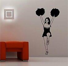 Online Design Riesig Cheerleader Kinder Wanddekor Aufkleber Vinyl Schlafzimmer Sport Lounge - Burgunder