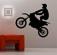 Online Design Riesig Motocross Fahrrad Wanddekor Aufkleber Vinyl Kinder Schlafzimmer - Burgunder