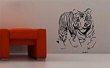 Online Design Schöne Tiger Wanddekor Aufkleber Vinyl Schlafzimmer Lounge Tiere Kinder - grau