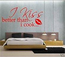 Online Design Wandspruch I Kuss Besser Als I