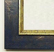 Online Galerie Bingold Spiegel Wand-Spiegel Flur-Spiegel Bad-Spiegel - Ludwigsstadt 4,6 - Blau Gold - 10 x 130 - FM - 200 Größen zur Auswahl - Handgefertigt - Antik, Barock, Landhaus