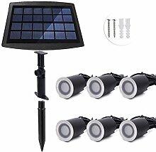 ONLT LED Solar Einbaustrahler,6 PCS LED IP67 3000K