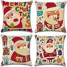 ONWAY Merry Christmas Baumwolle/Leinen Überwurf