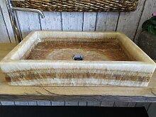 Onyxmarmor Waschbecken 6 Maßen 60 x 40 cm