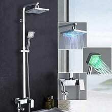 Onyzpily LED 3 Farbe Duschsystem Regendusche