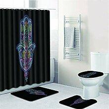 OOFAY Bodenkissen Türmatte Duschvorhang