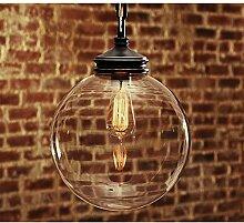 OOFAY Kronleuchter Retro-Kugel Glas Anhänger Lampe Schlafzimmer Esszimmer Beleuchtung schmiedeeiserne Leuchter