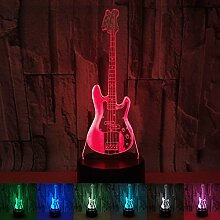 OOFAY Lights Moderne 3D-Illusion Bass-Gitarre