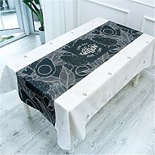 OOFAY Tischdecke Baumwolle und Leinen Rechteckig