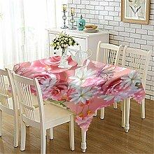 OOFAY Tischtuch Für Rechteckige Esstisch