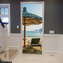 OOFAYWFD 3D Tür Aufkleber, Strandschirm Stereo