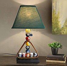 OOFWY E27 Billiard Tischlampe Schlafzimmer Wohnzimmer Nachttischlampe Europäische Einfache Stil Kreative Dekorative Leuchten