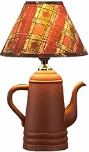 OOFWY E27 Dekorative Teekanne Tischlampe